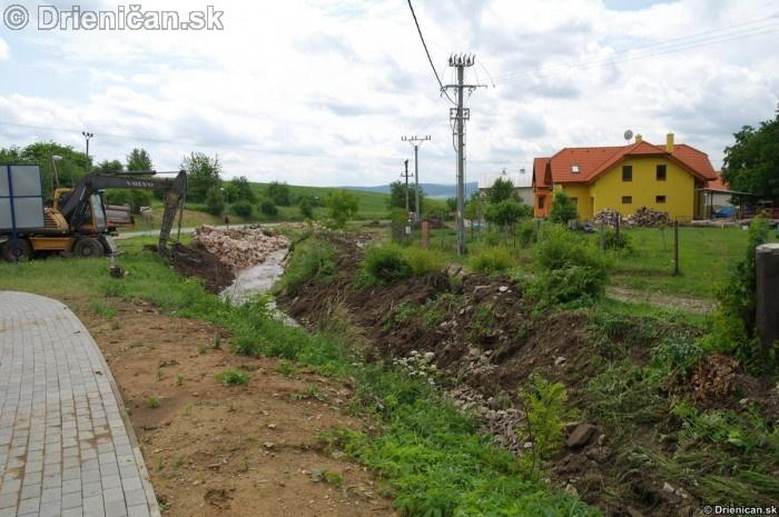 Ohrozené boli hlavne domy na úrovni hornej úrovne koryta potoka Šomka