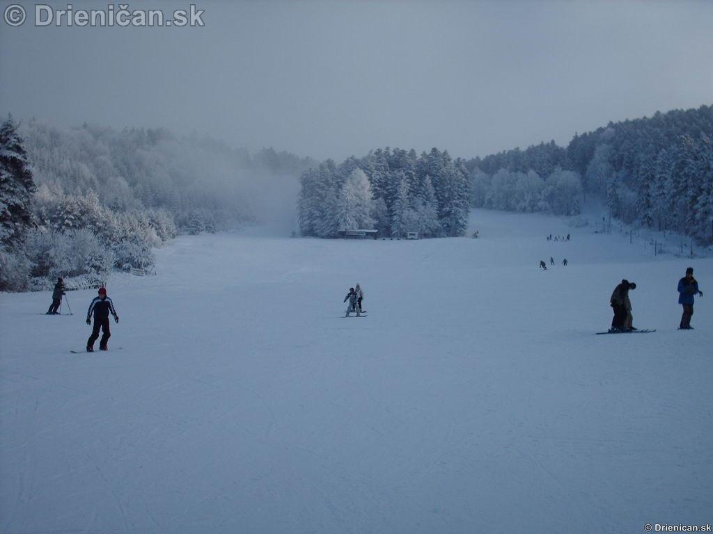 Zjazdovka v zime.