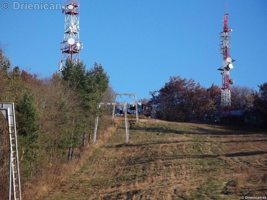 Najvyššie položený bod na Lysej, 1068 metrov nad morom.
