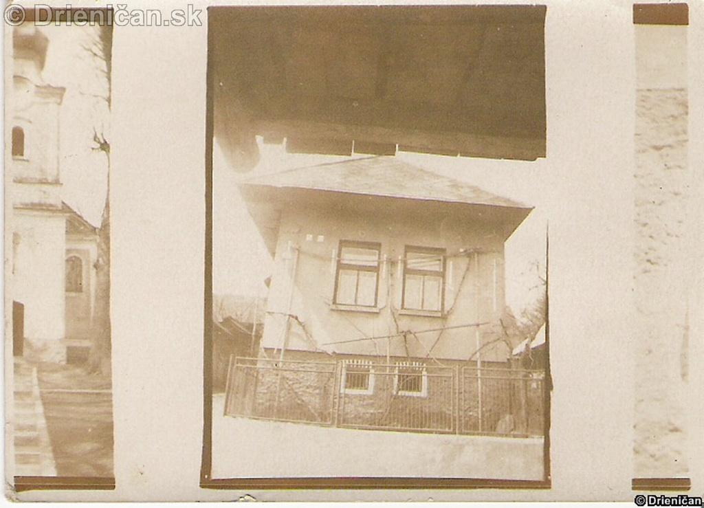 Drienica dom v hornej časti obce. Dnes už neexistuje rok cca: 1963-66