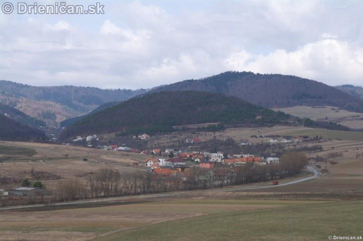 Pohľad na Drienicu zo Sabinova,marec 2012