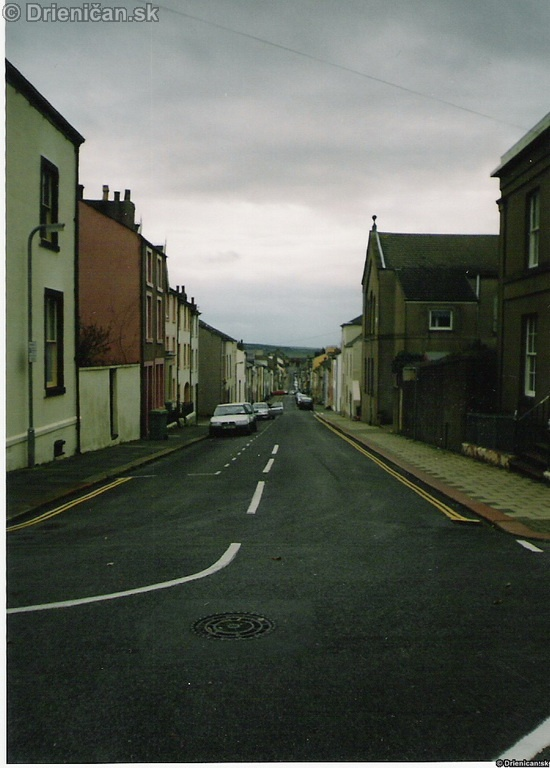 Dlhá ulica v meste Maryport