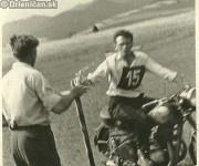 Súťaž v jazde na motorke, na snímke pán Šimko