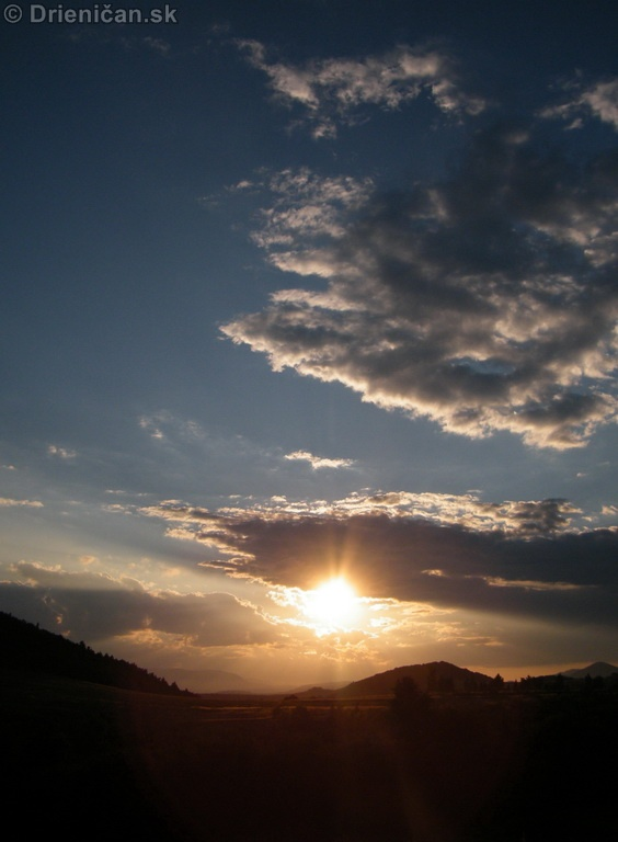 Drienica, západ slnka !