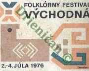 Folklórny festival Východná, 2.-4.Júla 1976.