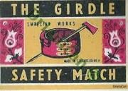 The Girdle-Safety Match,Smrečina Works-made in czechoslovakia.