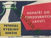 Petrolej,Kyseliny,Benzin- Nepatří do typizovaných lahví !