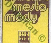 Trenčín-mesto módy,-výstava kultúry obliekania doplnkov a bytového textilu 23.8.-1.9 1974