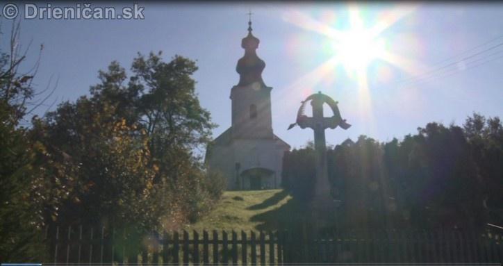Drienica, malebná obec pod Čergovským pohorím