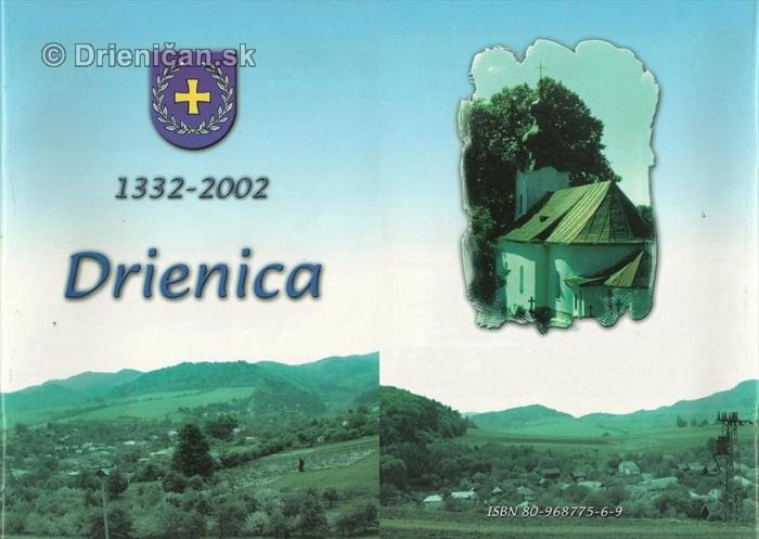 Drienica,1332-2002, vonkajší obal knihy