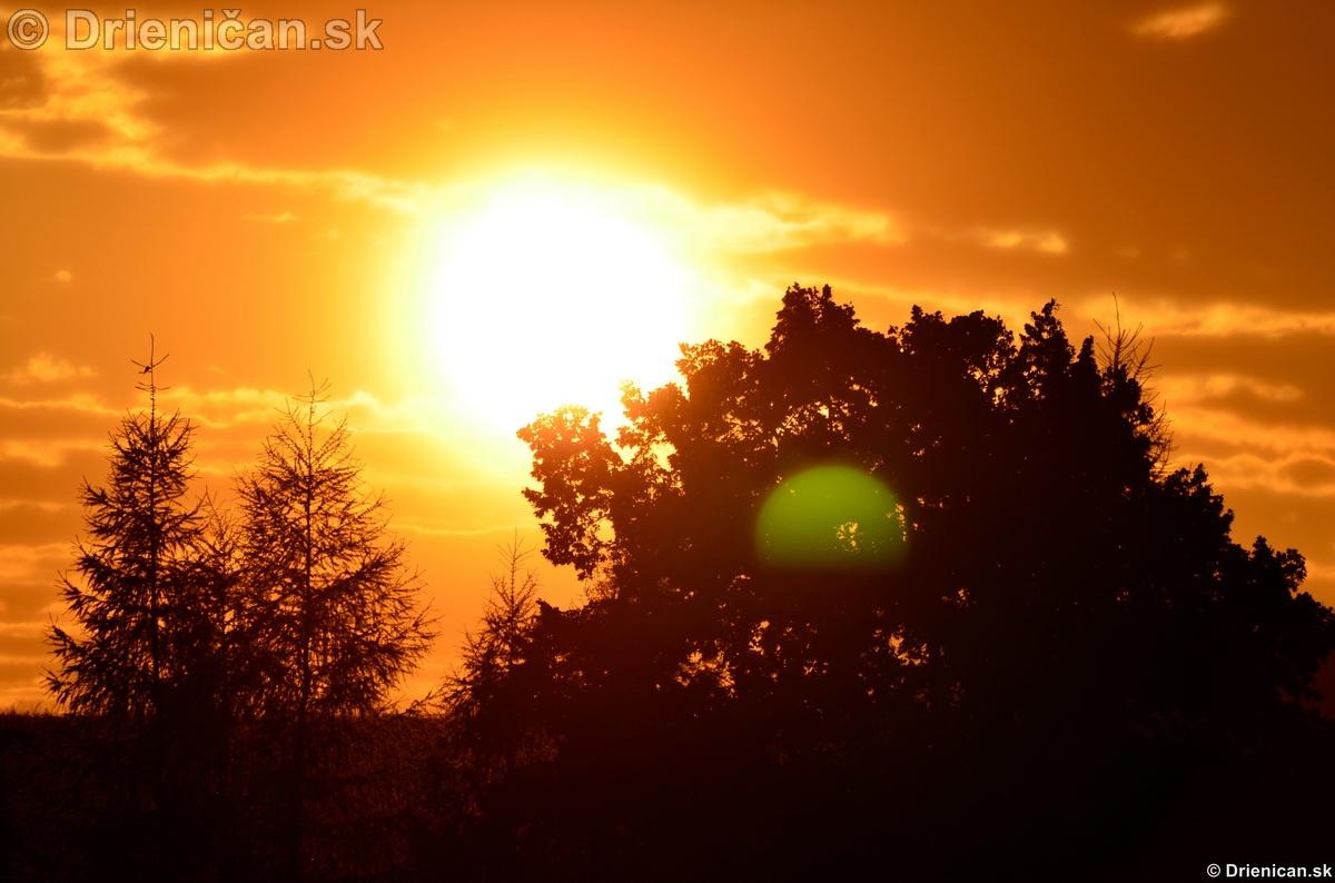 Západ slnka nad Drienicou 2012