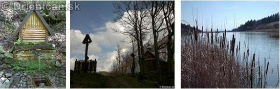 Lesný prameň Hadbábna Podvečer na Oltár Kameni Priehrada na potoku Telek (rybolov)