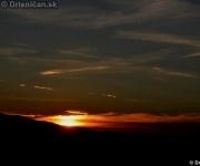 Západ slnka nad Drienicou