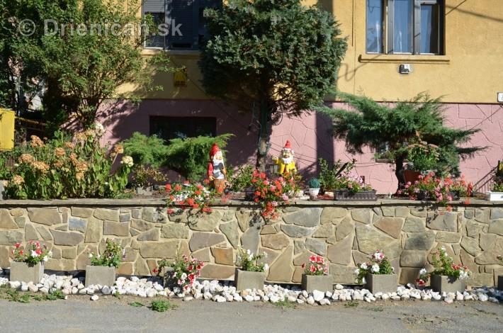 Kvetinové balkóny a záhradky v Drienici