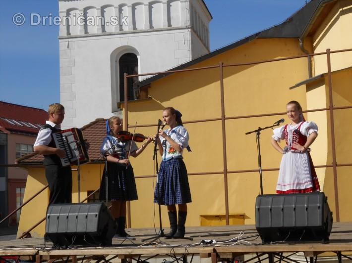 Mesto Sabinov, žije folklórom aj v týchto jesenných dňoch.