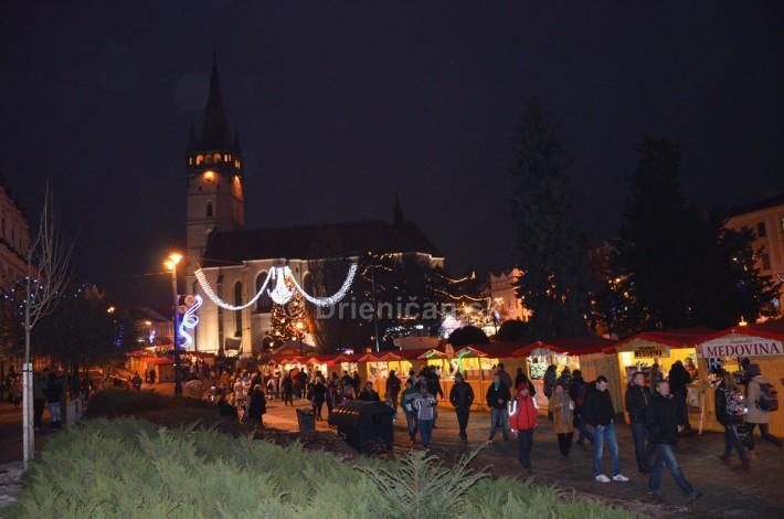 Vianočné trhy na pešej zóne v Prešove