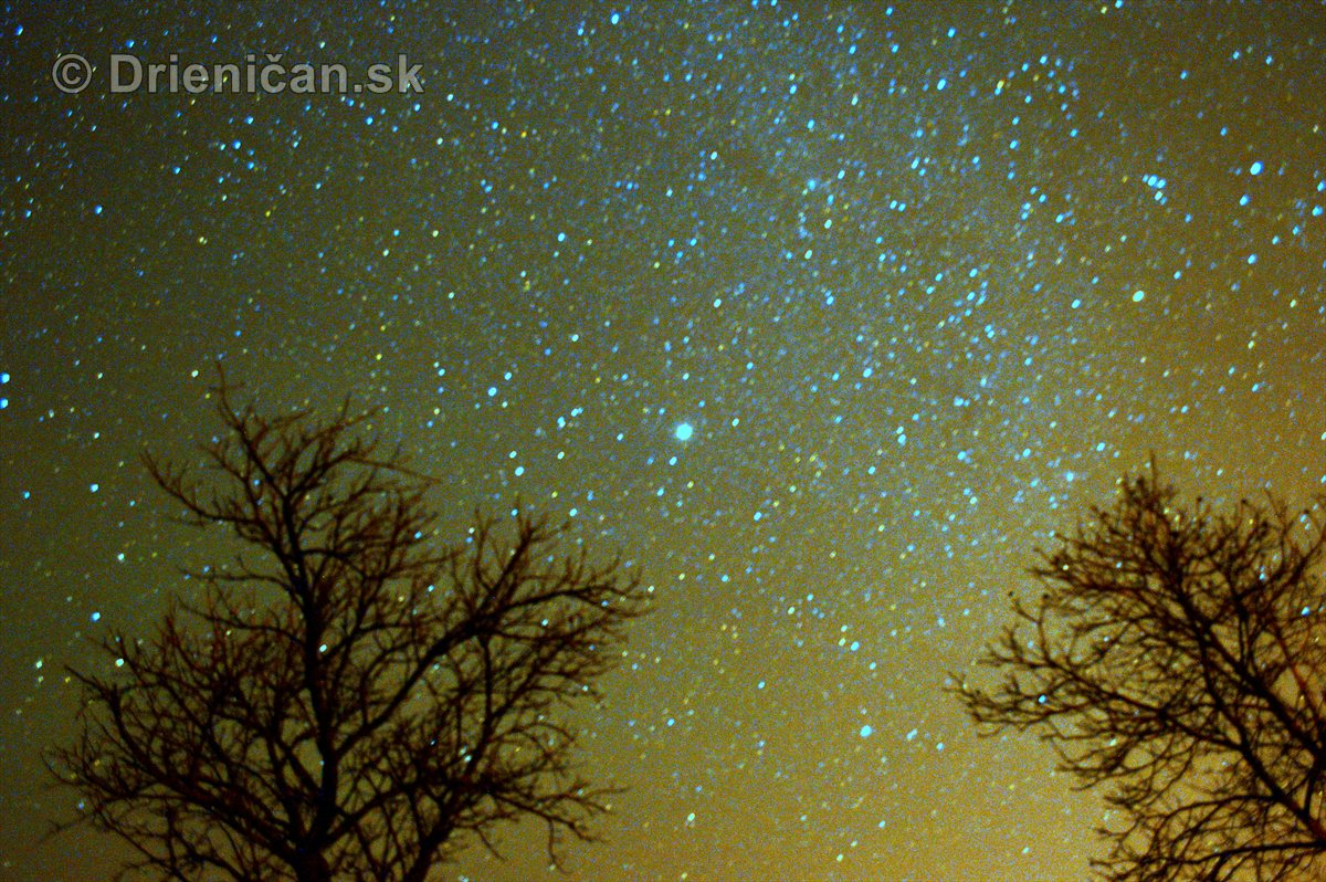Nočná fotografia-Drienica a okolie