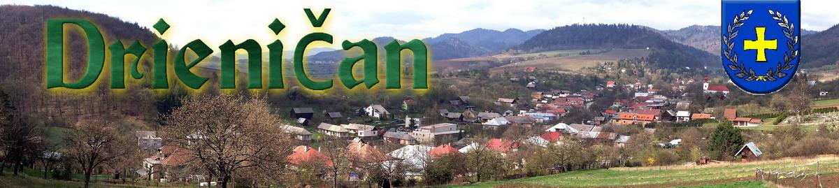 Logo č.4 -Drienica v jari. Pohľad z Markovni na panorámu, horná časť obce.