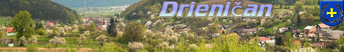 Logo č.6 -Jarný pohľad na obec Drienica z pod Hája.