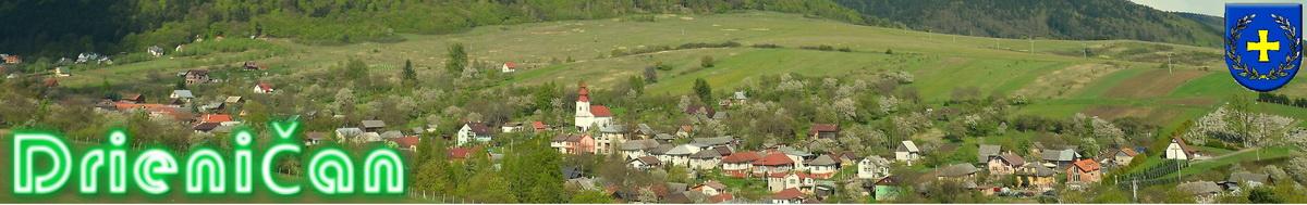 Logo č.7 -Pohľad na hornú časť obce z náprotivnej strany. Ročné obdobie máj.
