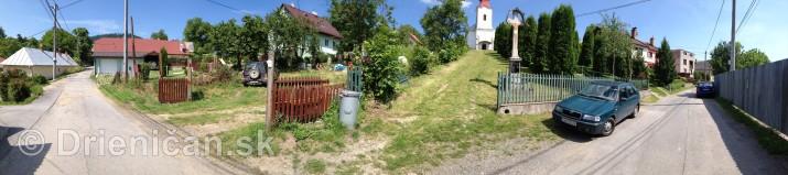 Panorámy obce Drienica