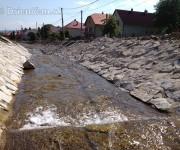 Úprava potoka a postup prác