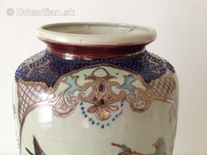 Ručne maľovaná váza -Satsuma