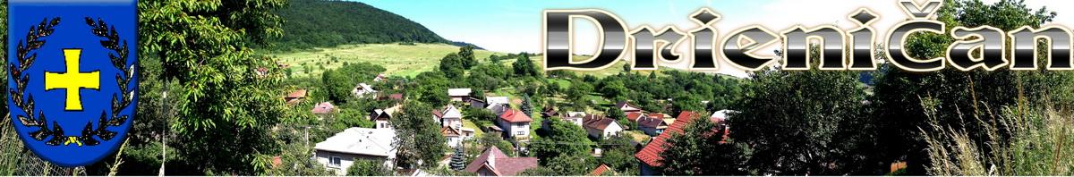 Logo č.27 , Pohľad na hornú časť obce Drienica, v pozadí Háj...