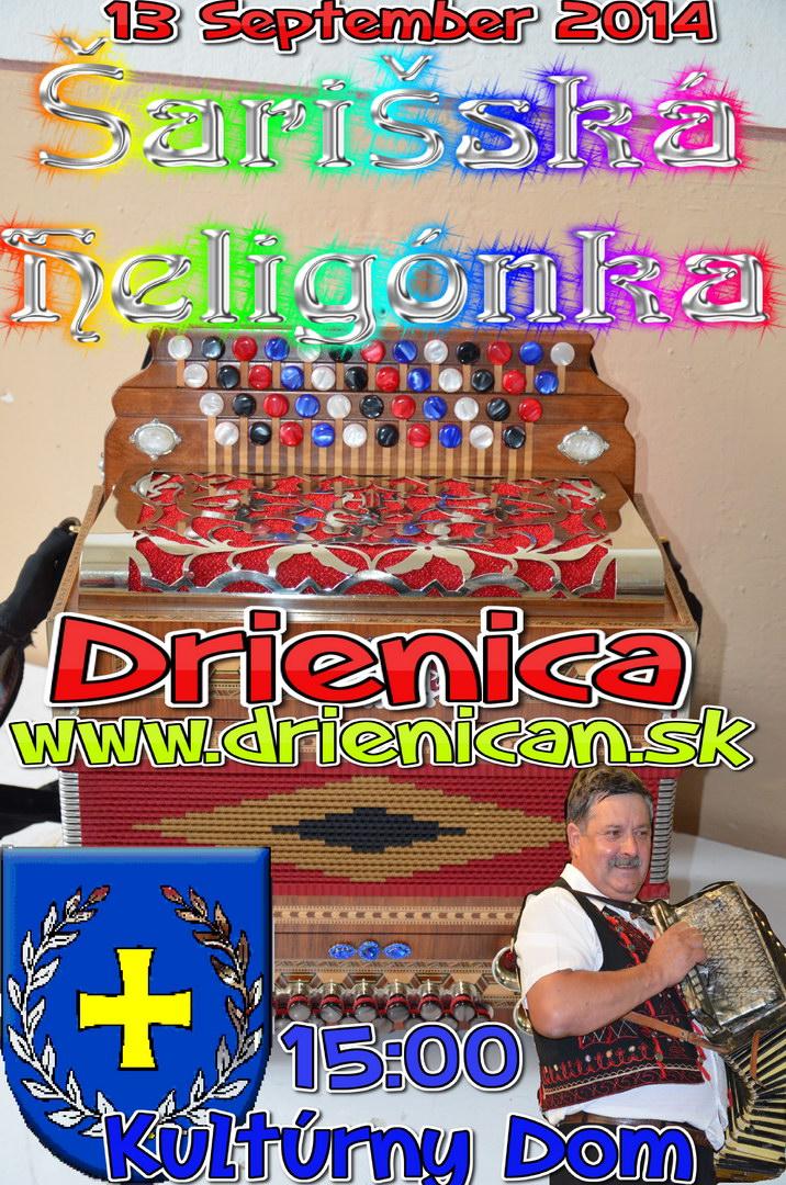 Šarišská Heligónka 2014, v Kultúrnom Dome o 15:00 Nesúťažné vystúpenie Heligonkárov