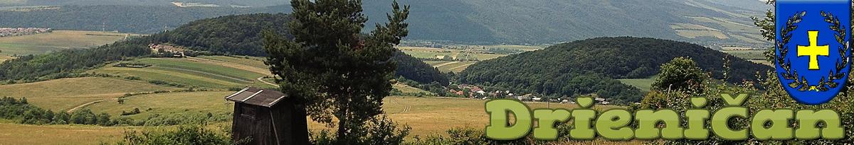 Logo č.29 , Pohľad od Hájovej doliny, smerom na hornú časť obce Drienica...
