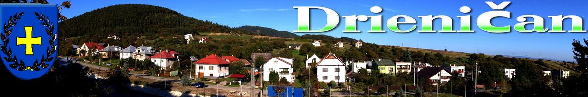 Logo č.32 , Drienica, pohľad na dolnú časť obce z multifunkčného ihriska.