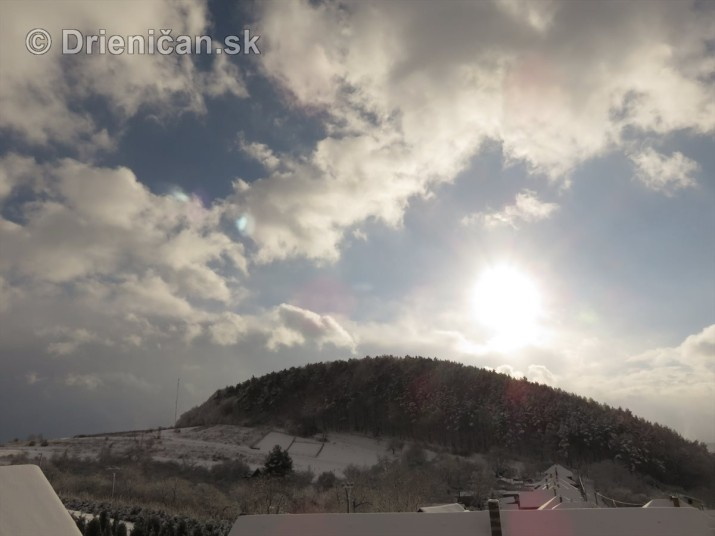Januárový sneh na Drienici