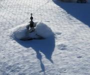 Miniatúry pod snehom
