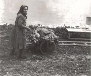 Babka vezie domov úrodu, pridala p.Kravcová