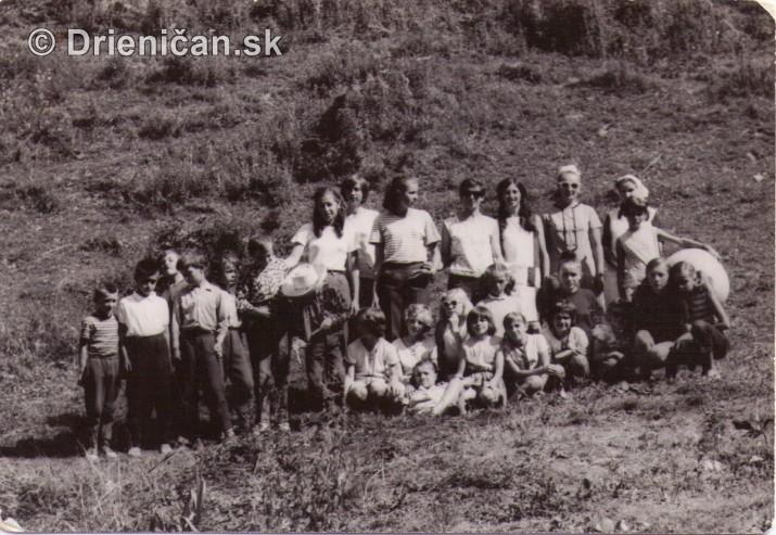 Prázdniny na mliekárenskej chate Drienica,rok 1970