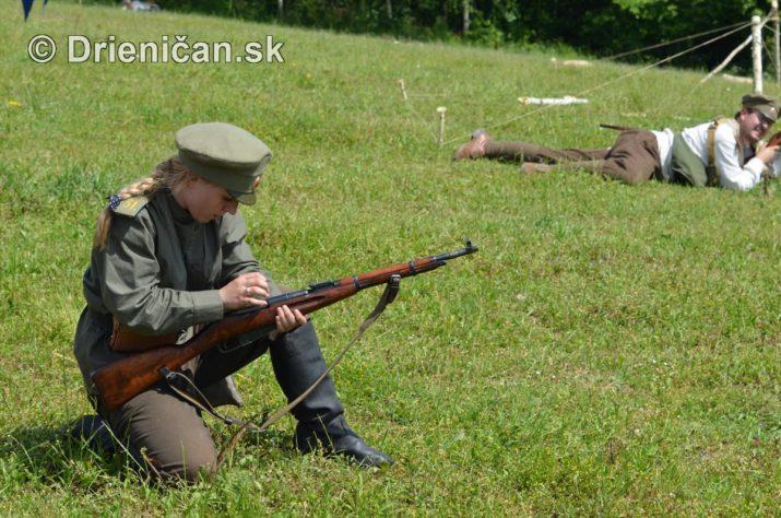 Hostovice-Rekonštrukcia bojov Karpaty 1914/1915
