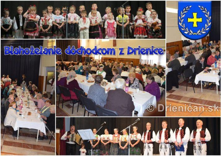 Blahoželanie dôchodcom z Drienice