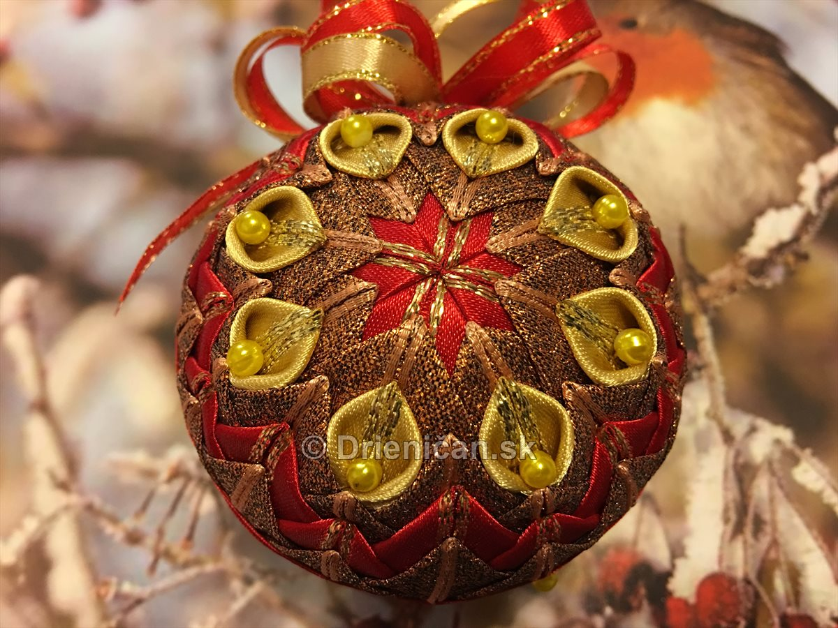 Červeno zlaté - Vianočné ozdoby
