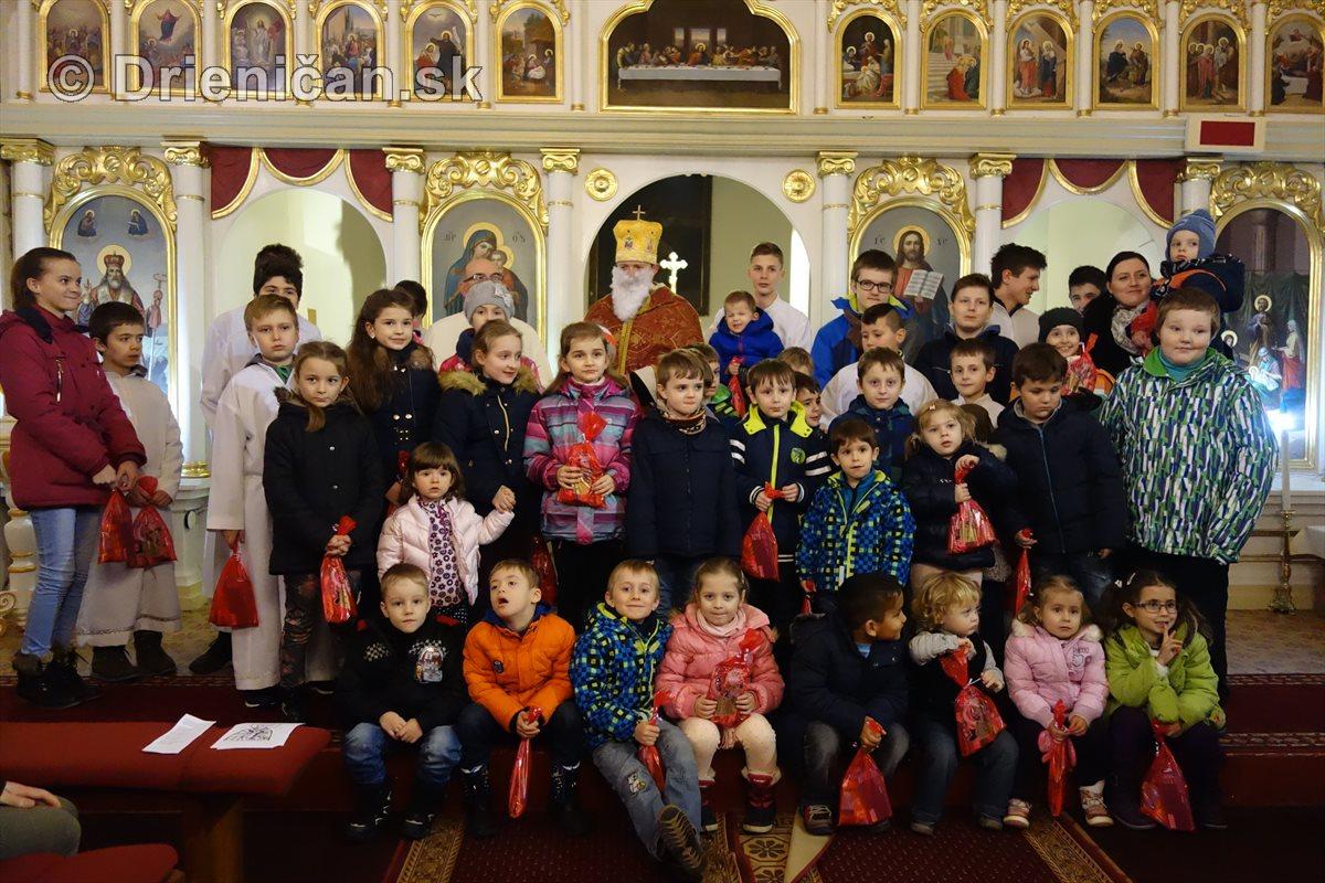 Nádielka darčekov od sv. Mikuláša v Drienici