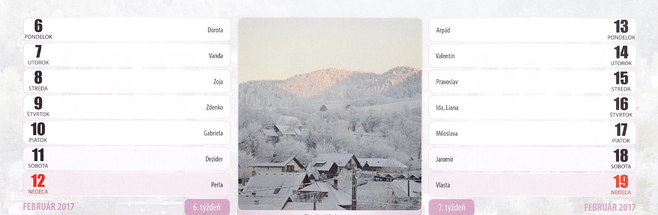 Zimný pohľad na obec