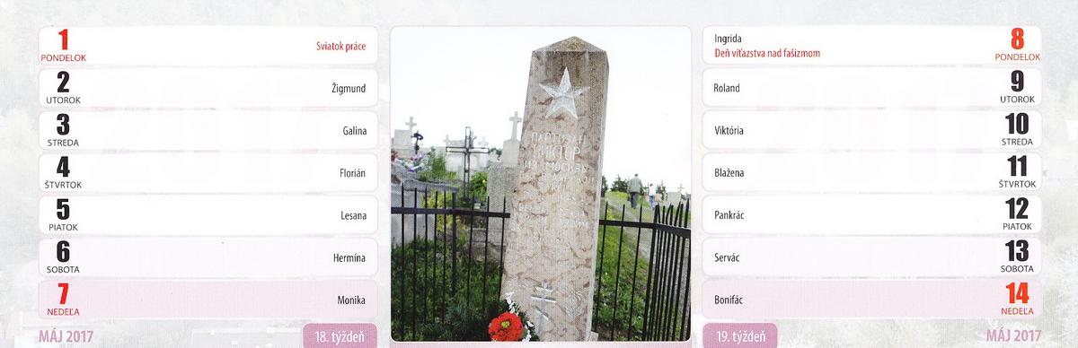 Pomník padlého partizána na obecnom cintoríne