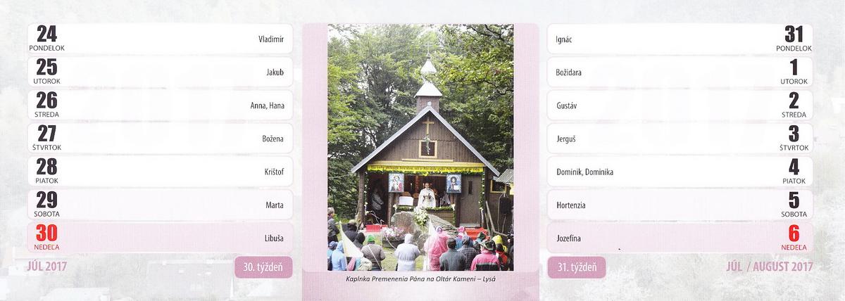 Kaplnka Premenenia Pána na Oltár Kameni - Lysá