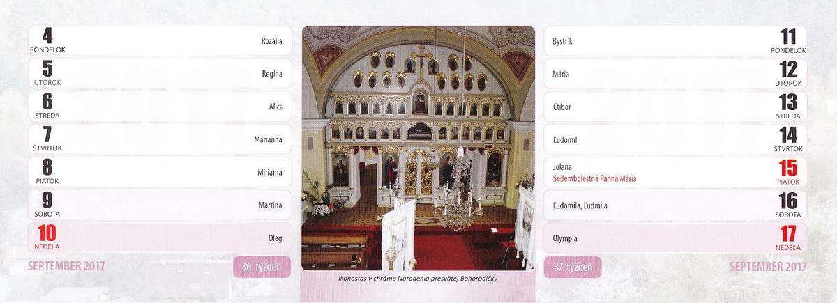 Ikonostas v chráme Narodenia presvätej Bohorodičky