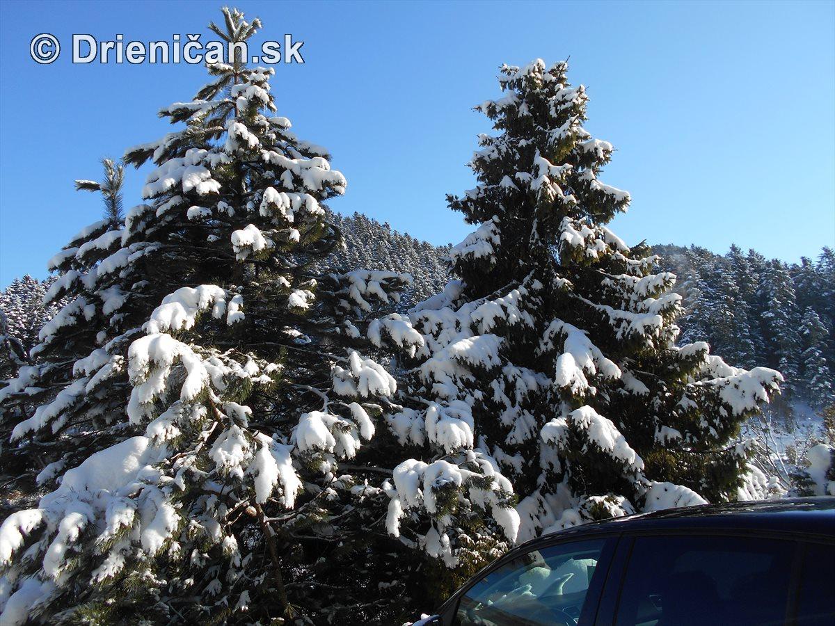 Nedeľné popoludnie v rekreačnej oblasti Drienica-Lysá