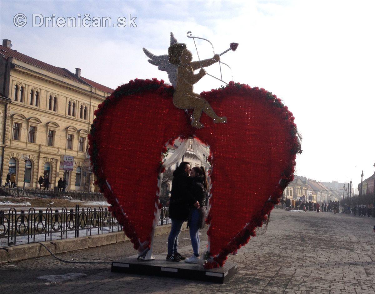 Sviatok svätého Valentína v Prešove
