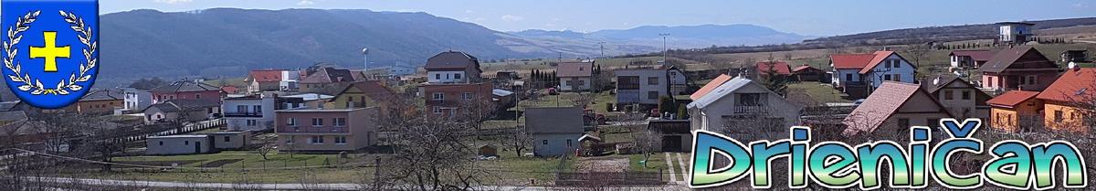 Logo č.90 , Vstup do obce Drienica (zľava), na snímku začiatok obce, v pozadí je vidieť Vysoké Tatry.
