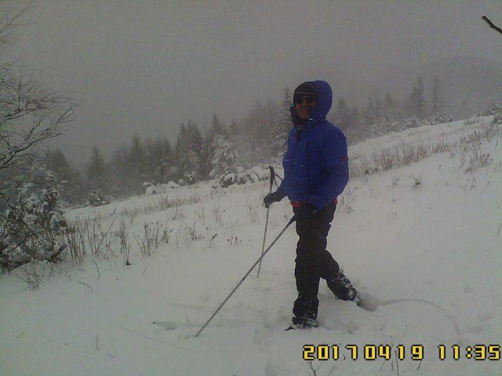 Zasnežený Minčol a 25 cm snehu v apríli