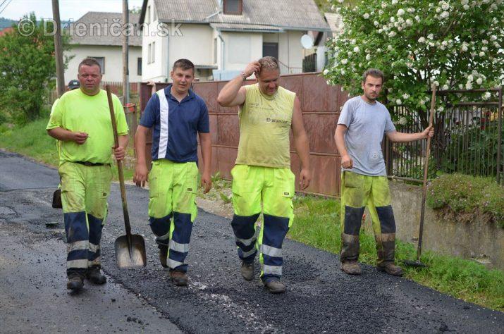 Vedľajšia cesta v našej obci už má nový asfalt