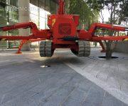 Transformer na parkovisku