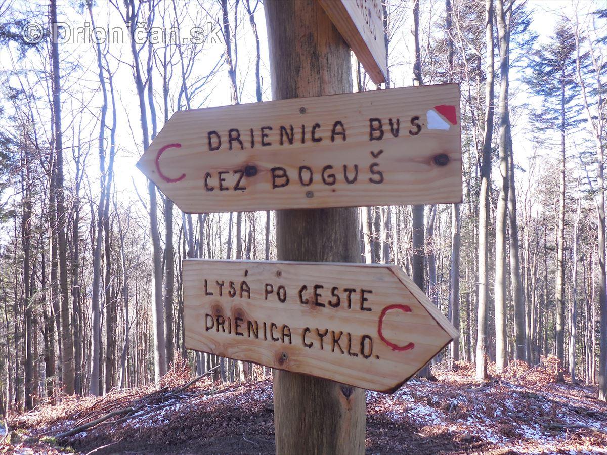 Cykloturistický chodník v rekreačnej oblasti Drienica-Lysá